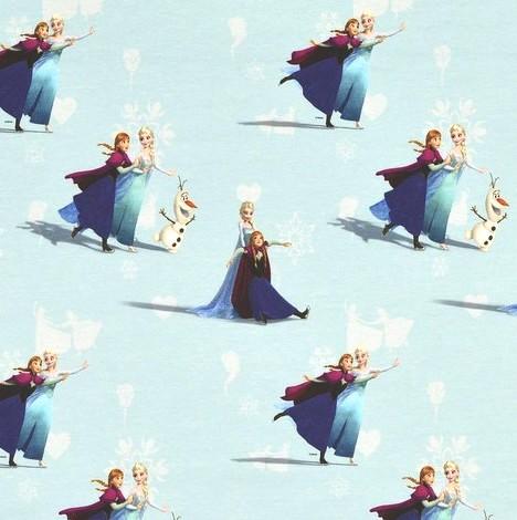 Digitaldruck Frozen Eiskönigin, hellblau, Baumwollstoff