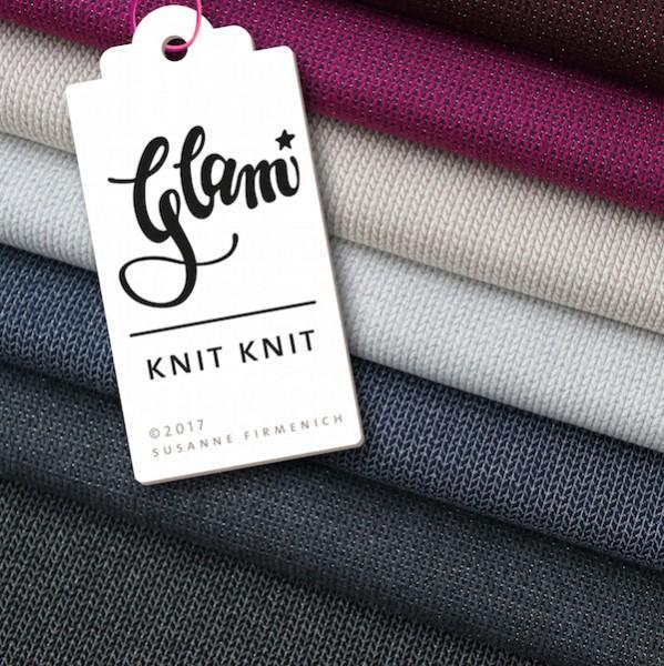 Bio-Strickstoff Knit Knit GLAM schwarz/dunkelgrau