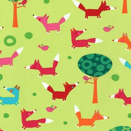 R. Kaufman, Creatures & Critters Fuchs im Wald hellgrün