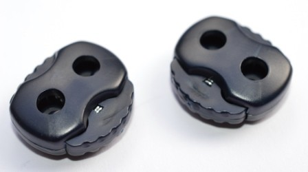 Kordelstopper, 2 löchrig, dunkelblau (groß)