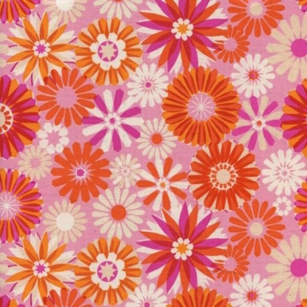 Cotton+Steel, Freshly Picked, Blumen pink, Webstoff