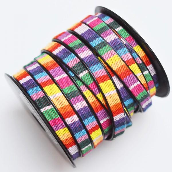 Kunstlederband, 9 mm regenbogen