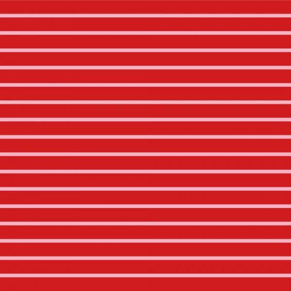 Sweat, Stripes Yarn Dyed rosa auf rot