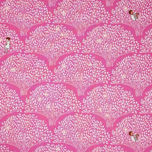 Michael Miller, Wee Wander, Wonder Tree pink