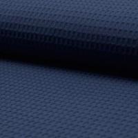 Waffelpique, helles dunkelblau