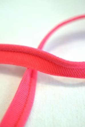 elastische Paspel, pink