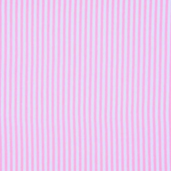 Feiner Streifenstoff dunkelrosa-weiß, Yarn Dyed