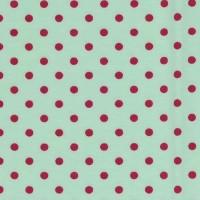 Tante Ema Tupfen pink auf mint, Jersey