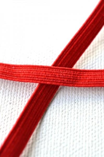 Flachgummi, rot, 6,5 mm
