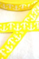 Anker, gelb, Webband