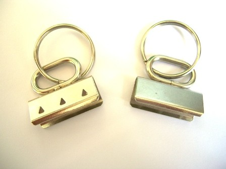 Clip für Schlüsselband - oval, silber 30 mm