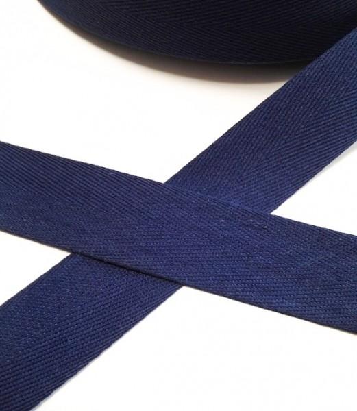 Köperband, 25 mm, dunkelblau