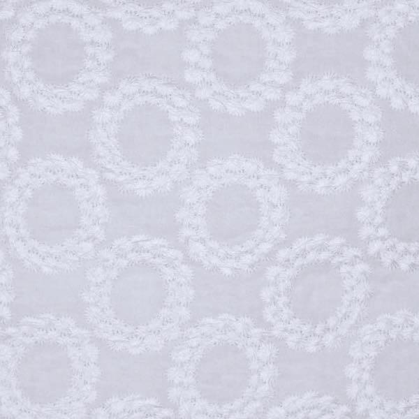 Top-Baumwollspitze Blütenkreise weiß