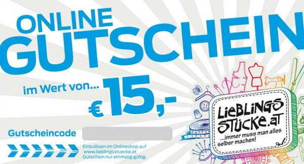 15 EUR Online Gutschein