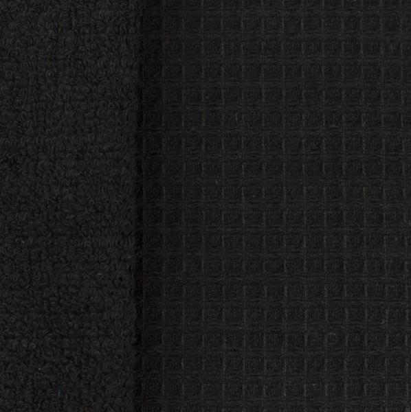 Doubleface Waffelfrottee, schwarz