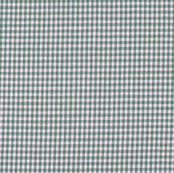 Vichykaro, klein, waldgrün-weiß kariert, waschbar bei 60°
