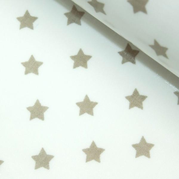 Laminat, Sterne hellbraun auf weiß, *SALE*