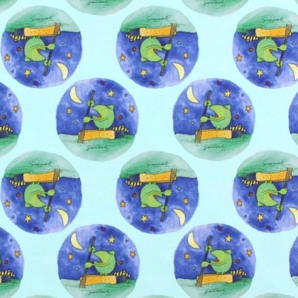 Digitaldruck Janosch Frosch mint, Jersey