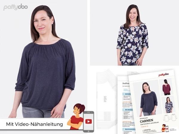 Carmen Damen-Bluse, pattydoo-Schnittmuster
