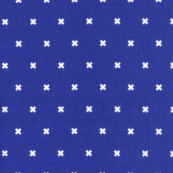 Cotton+Steel, XOXO blue, Baumwollstoff