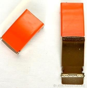 Gürtelschnalle, 2,5 cm, orange