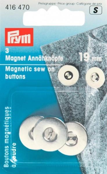 PRYM Magnet Annähknöpfe, silber