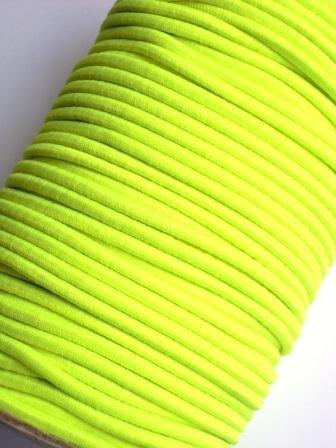 Gummischnur, 3 mm, neon gelb