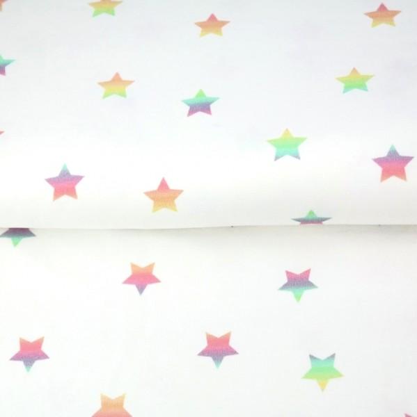Stenzo Digitaldruck Regenbogen-Sterne weiß, Jersey