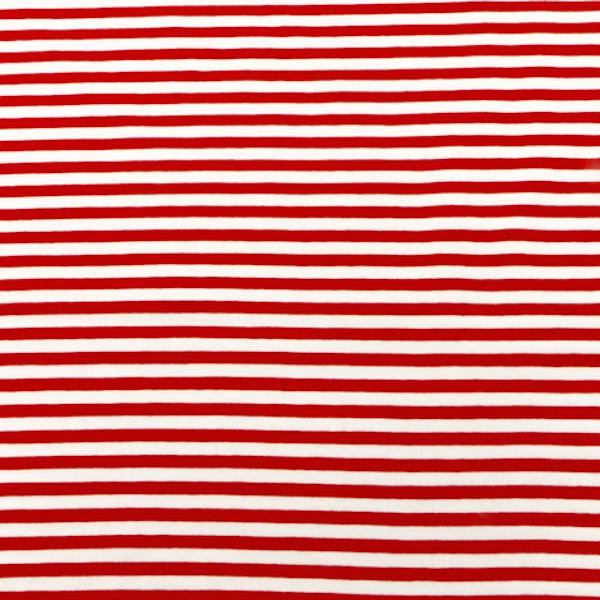 Leon, Streifen rot-weiß, Jersey, *Letztes Stück ca. 40 cm*
