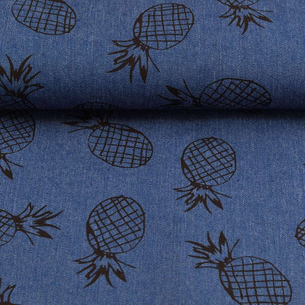 Jeans Ananas, mittleres jeansblau