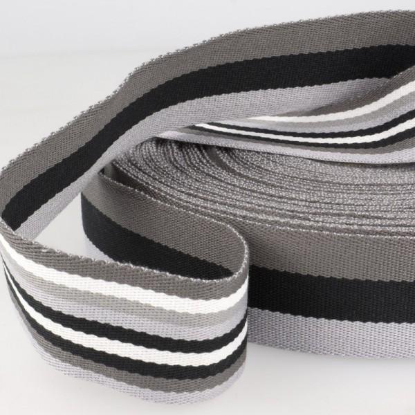 Gurtband, beidseitig gestreift, schwarz