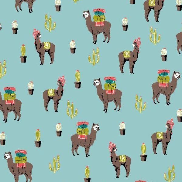 Baumwollpopeline, Amazing Alpaca, hellblau