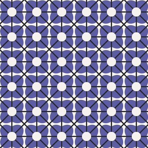Art Gallery Geometric Bliss, Cuboid Cobalto, Webstoff