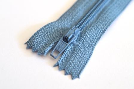 Reißverschluss, jeansblau