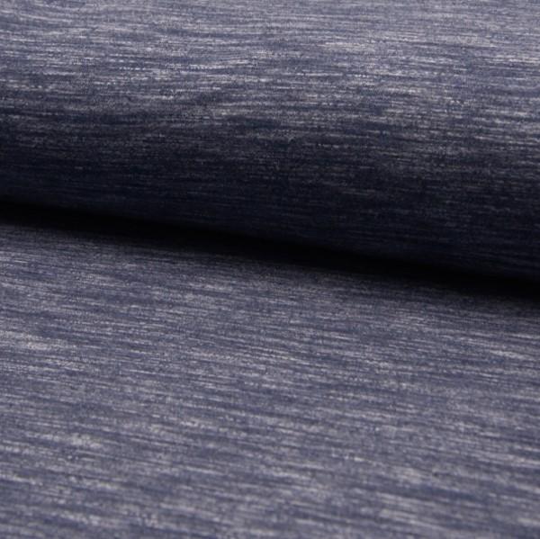 Kuschelsweat Vintage, dunkles jeansblau-meliert