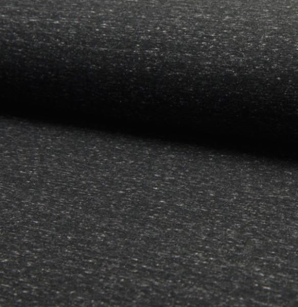 Kuschelsweat Vintage, schwarz meliert