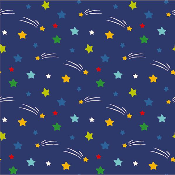 Galaxy, Sternchen, dunkelblau, Jersey