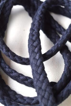 Flechtkordel, 8 mm, dunkles dunkelblau