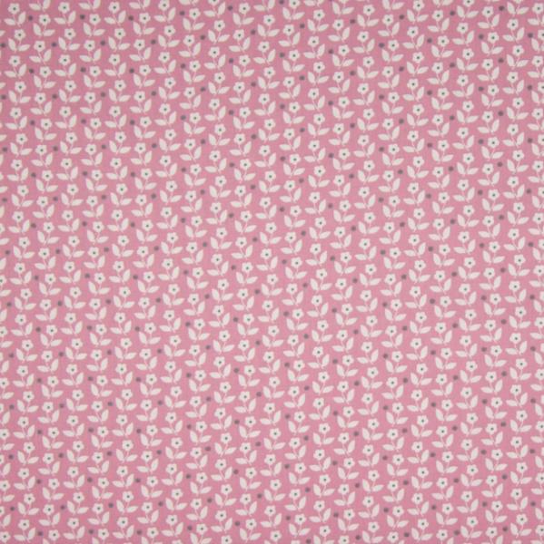 Mini-Flowers rosa, Baumwollpopeline