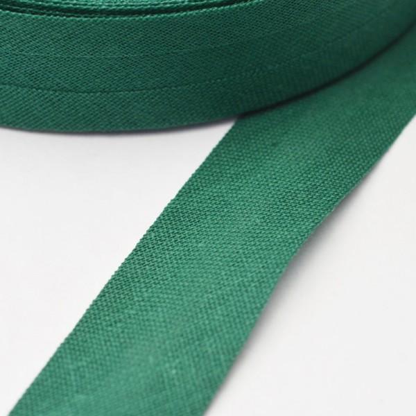 Schrägband, 20 mm, flaschengrün