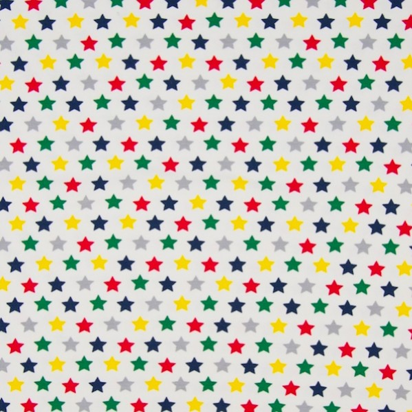 Colorful Stars auf offwhite, Jersey, *Letztes Stück ca. 120 cm*
