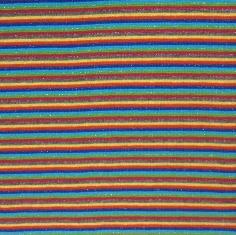 Ringelbündchen multicolor mit Glitzerstreifen