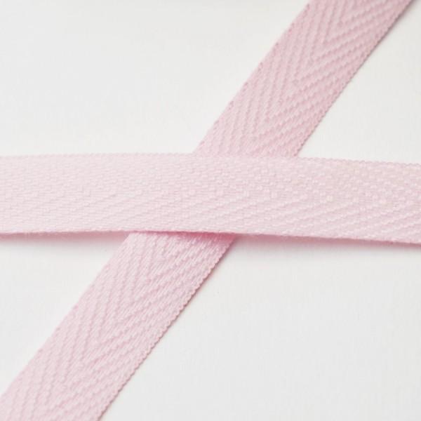 Köperband, 10 mm, rosa