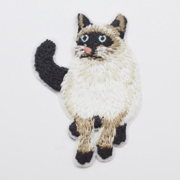 Applikation Katze weiß-braun