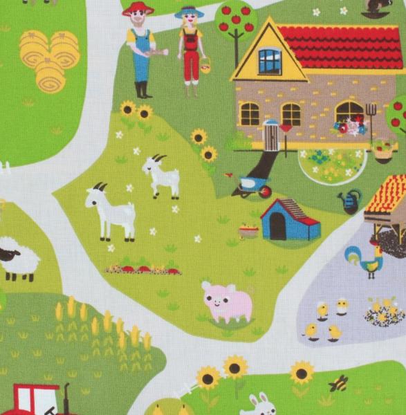 Farmhouse hellgrün, Baumwollpopeline