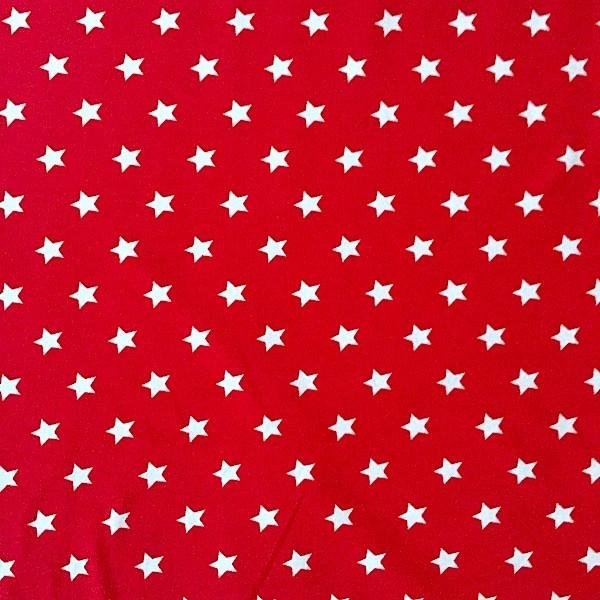 Emil, kleine Sterne, weiß auf rot, Jersey