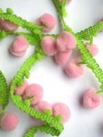 Pommerlborte, zweifärbig rosa-grün