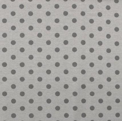 Emil, Punkte, dunkelgrau auf grau, Jersey