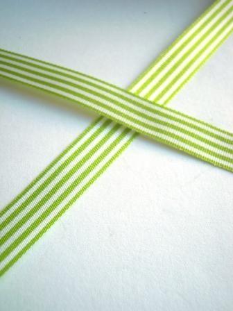 Stoffband, hellgrün gestreift, 10 mm
