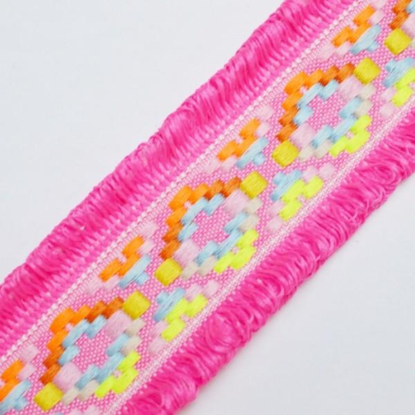 Gurtband Ibiza mit Fransen, pink